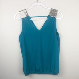 Charlotte Russe Teal Blue Top Chain Strap